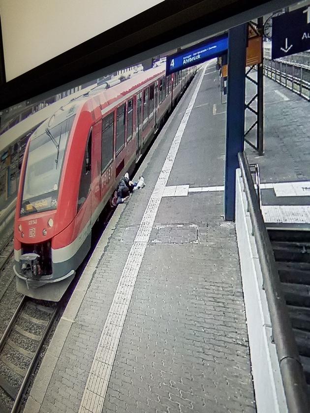 BPOL NRW: Reisender stürzt am Bonner Hauptbahnhof zwischen Bahnsteigkante und Zug