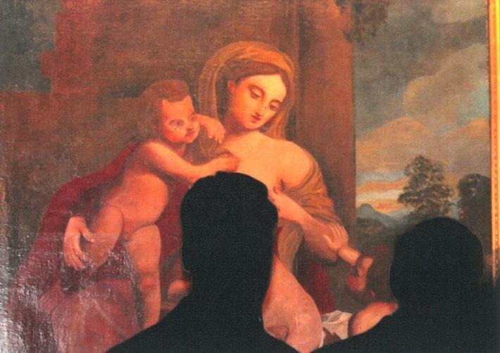 """Goslar: Wer kann Angaben über den Verbleib eines gestohlenen Gemäldes """"Frau mit zwei Kindern"""" machen?"""