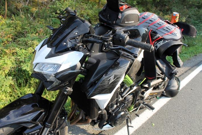 Olpe  POL-OE: Kradfahrer nach Unfallflucht unverletzt