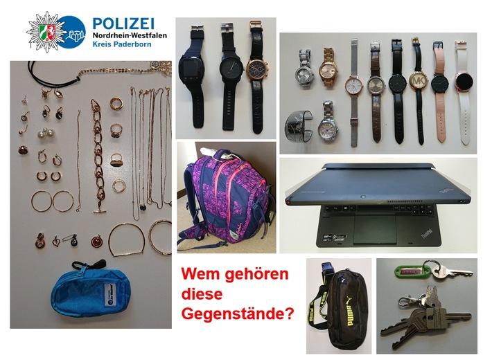 Paderborn  POL-PB: Einbrecher per gestohlenem Tablet geortet – Festnahme – Polizei sucht Besitzer von sichergestellten Beutestücken