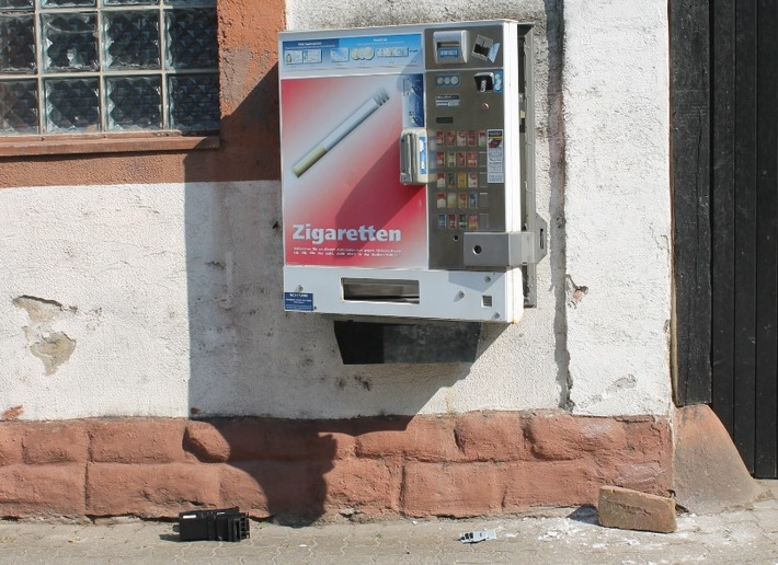 POL-PDLD: Zigarettenautomat aufgebrochen – Zeugen gesucht